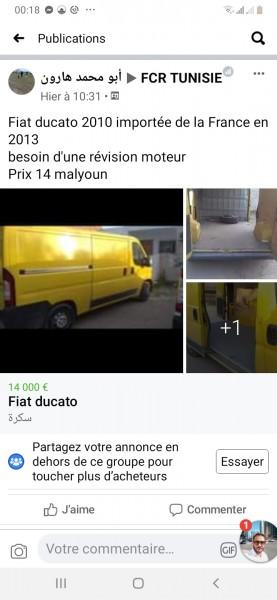 Fiat ducato besoin d'une révision moteur